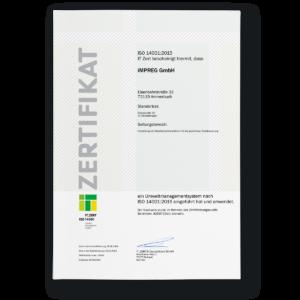 Umweltmanagement-System ISO 14001:2015