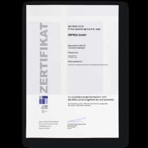 Qualitätsmanagement-System ISO 9001:2015