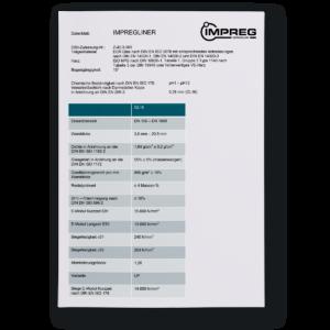 Datenblatt IMPREG Liner GL16