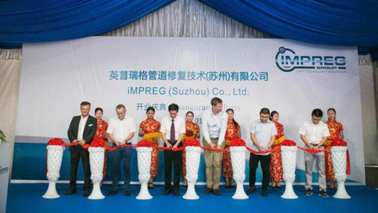 Historie 2017 hier Eroeffnung IMPREG Strandort China in Suzhou