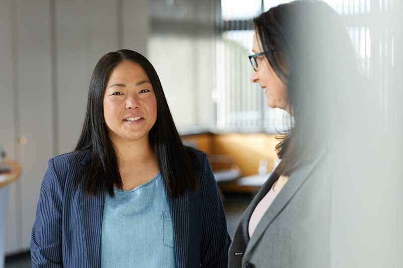 Mitarbeiterinnen IMPREG Karriere Marketing und Empfang