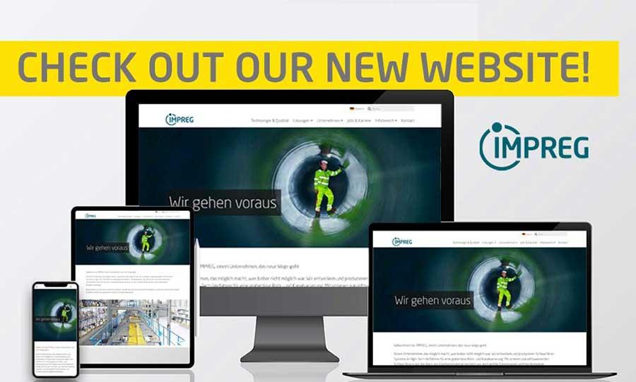 Neue Webseite Mitarbeiteridentität und CD bei IMPREG 2021