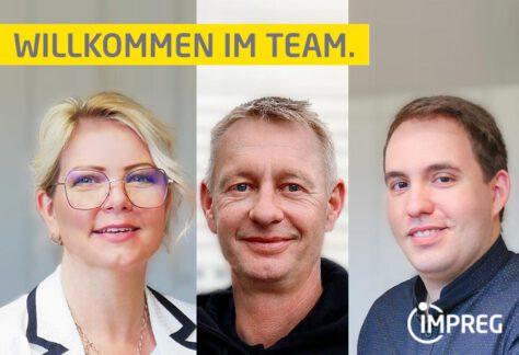 Vorstellung neue Mitarbeiter im Team IMPREG