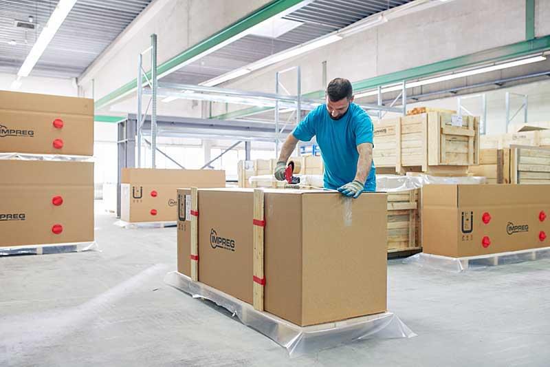 Zuverlaessige Logistik und sicherer Transport der IMPREG UV-Schlauchliner Produkte